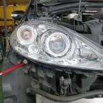 メルセデスベンツ A170 スモールランプ球交換 ヘッドライト球交換